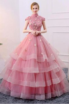 Unique pink tulle long prom dress, pink evening dress Source by martinagenn Pink prom dresses Evening Dresses With Sleeves, Blue Evening Dresses, Unique Prom Dresses, Pink Prom Dresses, Trendy Dresses, Winter Dresses, Quinceanera Dresses, Evening Gowns, Beautiful Dresses
