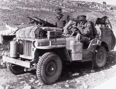 Heavily armed and specially modified jeep of British L Detachment SAS, North Africa, early 1943
