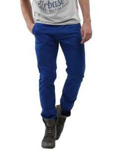 Buy Breakbounce Men Electric Blue Suave Slim Fit Chino Trousers - 522 1113 18 02 52-28 - Apparel for Men via @Myntra.com