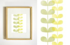 Botanical Art Print - Yellow and Green Fern Wall Decor - 8x10. $20.00, via Etsy.