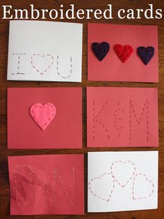 project 21 of 33 : embroidered cards.