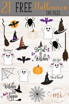 Find free Halloween SVG Cut Files with designs for witches hats, brooms, pumpkins, spiders, ghosts and bats and funny Halloween SVGs. Halloween Fonts, Halloween Clipart, Halloween Cards, Fall Halloween, Free Halloween Clip Art, Halloween Door, Funny Halloween, Halloween Ideas, Cricut Tutorials