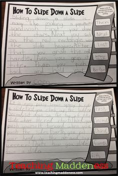 How to slide down a slide