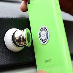 ziqiao rotazione di 360 gradi supporto del telefono magnete supporto dell'automobile mini telefono cruscotto per iphone samsung gps smart del 2016 a €5.87