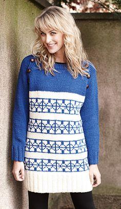 Strikket sweater med nordiske mønstre