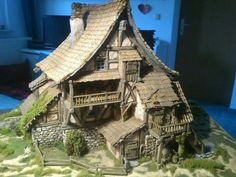 Tabletop Fix: Total Battle Miniatures - New Early Medieval Range Medieval Houses, Medieval Town, Medieval Fantasy, Fantasy Miniatures, Dollhouse Miniatures, Estilo Tudor, Hirst Arts, Chateau Medieval, 3d Modelle