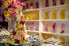 Ideias para casamento e festa: Decoração casamento amarelo e rosa