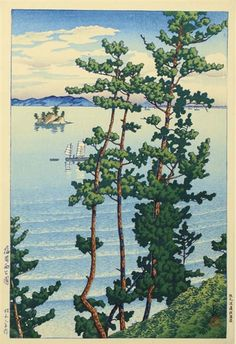 1928 - Hasui, Kawase - Fukuoka Nishikoen (Nishi Park, Fukuoka), from the series Tabimiyage dai sanshu (Souvenirs of travel--third series)