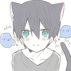 Free! ~~I always thought that he was cute as a cat~~:: Haruka