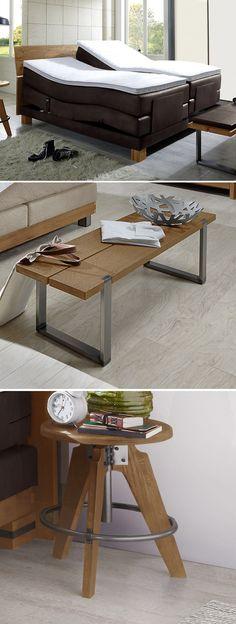 Geräumiger Nachttisch aus massviem AkazienholzBettende   - schlafzimmer bett 200x200