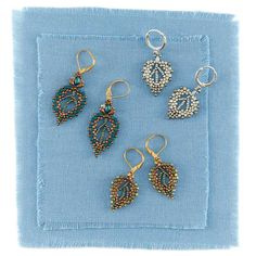 Expert Advice on Beading for Beginners. Aspen Leaf Earrings by Alice Haron (Quick +Easy 2017)