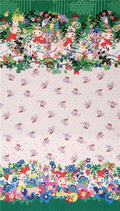 white My Melody bunny flower dot Sanrio oxford fabric 5