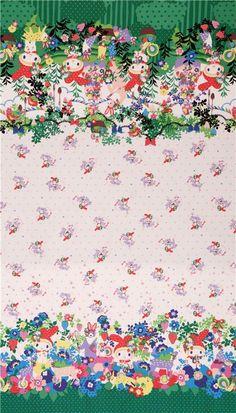 Fairy tale 100/% Cotton fabric Oxford Bold flowers animals floral owl bird JO//09*