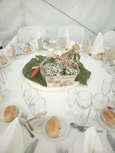 centerpiece dedicated all gardeners, in a rural or rustic wedding