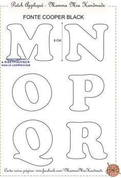 ФЕТРОКЛУБ: Идеи - Фетр - Изделия's photos Alphabet Letter Templates, Alphabet Code, Alphabet Stamps, Letter Stencils, Printable Letters, Alphabet And Numbers, Disney Alphabet, Felt Name, Felt Templates
