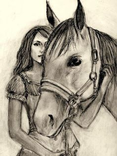 Supreme Portrait Drawing with Charcoal Ideas. Prodigious Portrait Drawing with Charcoal Ideas. Horse Drawings, Pencil Art Drawings, Art Drawings Sketches, Animal Drawings, Cute Drawings, Drawing Animals, Zoo Drawing, Painting & Drawing, Horse Sketch