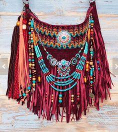 New moda boho ibiza purses ideas Hippie Style, Hippie Chic, Boho Chic, Gypsy Bag, Boho Gypsy, Bohemian, Hippie Bags, Boho Bags, My Other Bag