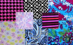 Collage of our newest swimsuit fabrics!