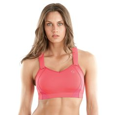 Juno sports bra from Moving Comfort. Fits up to 40DD and still looks cute. High ratings.