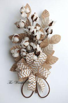 Cotton Anniversary Bouquet, 2nd Wedding Anniversary Gift, Natural Cotton Bolls, Cotton Arrangement, Bridal Bouquet, Wedding Decor, Burlap