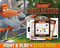 Free Printable PLANES: FIRE AND RESCUE Activity Sheets - Jinxy Kids