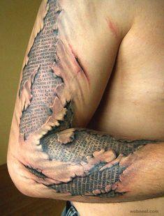 3d tattoo design man