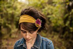 Fall Flowers Headwrap - Garlands of Grace headband headcovering