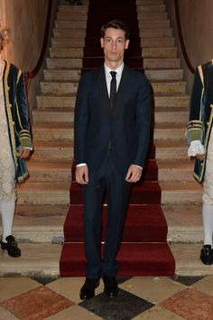 Nicolas Ripoll, model of the FW 13/14 menswear advertising campaign, at the Valentino Ball at Palazzo Volpi during the 70th Venice International Film Festival on September 4th 2013 in Venice