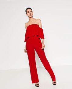 Combi-pantalon à épaules dénudées - Zara - Printemps-été 2016