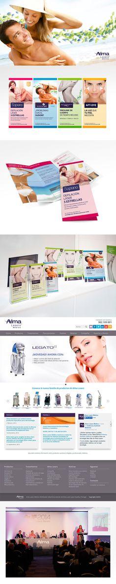 Distribuidor en España de Alma Lasers, fabricante internacional de equipos para tratamientos de salud y belleza. Así desarrollamos su imagen de marca.