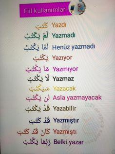 Learn Turkish Language, Arabic Language, Teaching English, Learn English, Turkish Lessons, English Language Course, Negative Thinking, Learning Arabic, Arabic Words