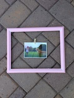 A personal favorite from my Etsy shop https://www.etsy.com/listing/234339549/clothesline-pink-picture-frame-11x15