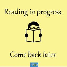 Reading in progress