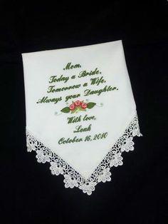 Handkerchief - Personalized Wedding Handkerchief - KEDACOLE's Green Wedding By Color Blog