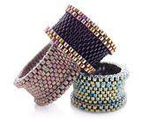 BEADING TUTORIAL, beading pattern, ring tutorial, Barrel ring, beaded ring, statement ring, luxe, OOAK, JeannieRichard