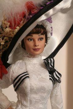 Audrey Hepburn OOAK doll repaint My Fair Lady