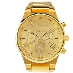 Charlotte Russe Gold Golden Boyfriend Watch by Charlotte Russe at... ($20) ❤ liked on Polyvore