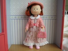 """NEW MADELINE 8""""OUTFIT CARDIGAN & FLOWER PRINTED DRESS FAMILIAR FOR CLASSIC DOLL #FAMILIAR"""