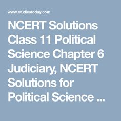 35 Best NCERT Solutions Class 11 Political Science images in