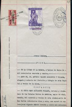 Jubilication Notarial stamp use on the document 1944)