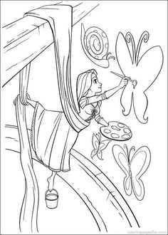 Tangled Rapunzel Coloring Pages 54