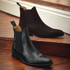 Black Chelsea boots | Mens boots from Charles Tyrwhitt, Jermyn Street, London