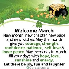 New Month Quotes, March Quotes, A Days March, March Month, New Month Wishes, Hello March, Improve Your English, Learn English, New Chapter
