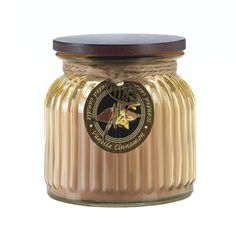 """Candleholders & Candles Home Locomotion Two of the most beloved aromas mix and mingle to create an irresistible home accent. This ribbed glass jar candle comes with a snug-fit lid and will fill your room with the scent of warm vanilla cinnamon. 16 oz and 100 burn time. Item weight: 2.00lbsItem dimensions: 4.25"""" W x 4.50"""" H x 4.25"""" LMaterials: Wax - Parraffin, Glass, Lead Free Wick, WoodUPC: 849179024215"""