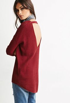 Cutout-Back Textured Sweater | Forever 21 Canada