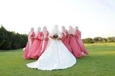 Muslim bride and bridesmaid
