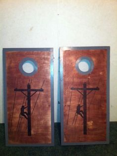 Lineman boards I made Lineman Love, Lineman Gifts, Power Lineman, New Crafts, Wood Crafts, Dyi Signs, Electrical Lineman, Journeyman Lineman, Picnic Table Plans