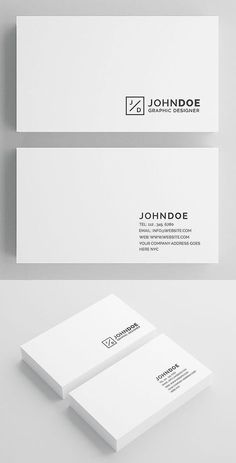 Minimal Business Card for personal and company use. Minimal Business Card Template Features - Layered PSD Files - 300 DPI - Print Ready - x (Full