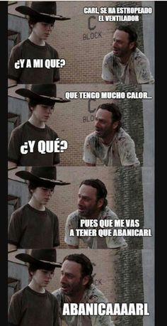 Chiste de The Walking Dead (muy malo xD) Para más imágenes graciosas visita: https://www.Huevadas.net #meme #humor #chistes #viral #amor #huevadasnet