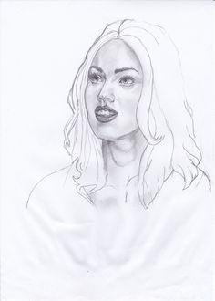 Este retrato es a Megan Fox le realice en un rato libre y admiracion por la belleza de esta actriz